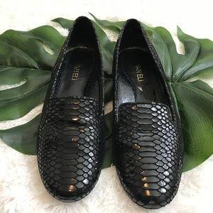 Vaneli Croc Black Flats Sz 8 N